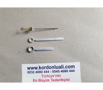 Akrep 3,5 cm Yelkovan 5 cm Metal Gümüş 100 Adet