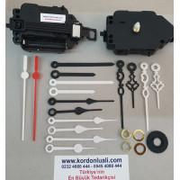 Sarkaçlı Saat Mekanizması Şaft 14 mm Plastik Akrep Yelkovan