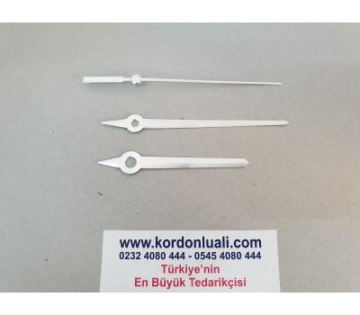 Akrep 7,6 cm Yelkovan 9,6 cm Metal Gümüş 100 Adet