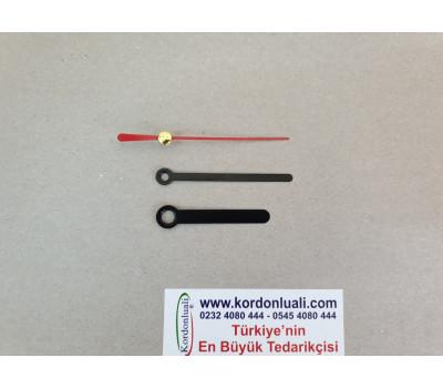 Akrep 5 cm Yelkovan 6 cm Metal Siyah